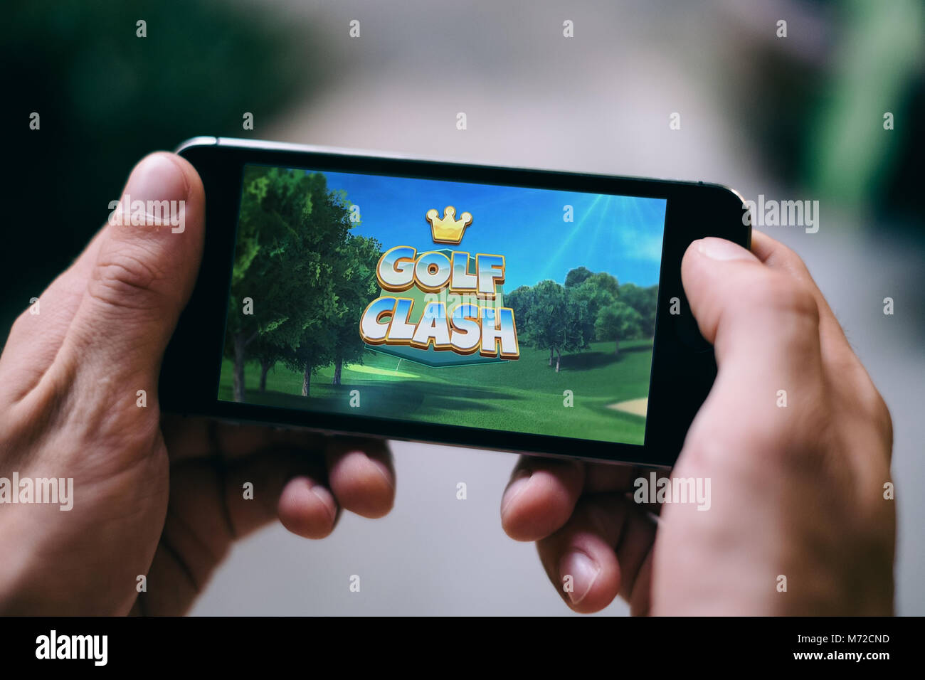 Golf Clash App Game played on Apple iPhone - Stock Image