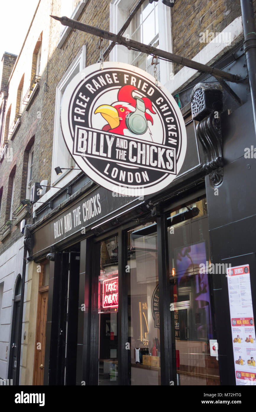 Billy And The Chicks Free Range Fried Chicken Restaurant On