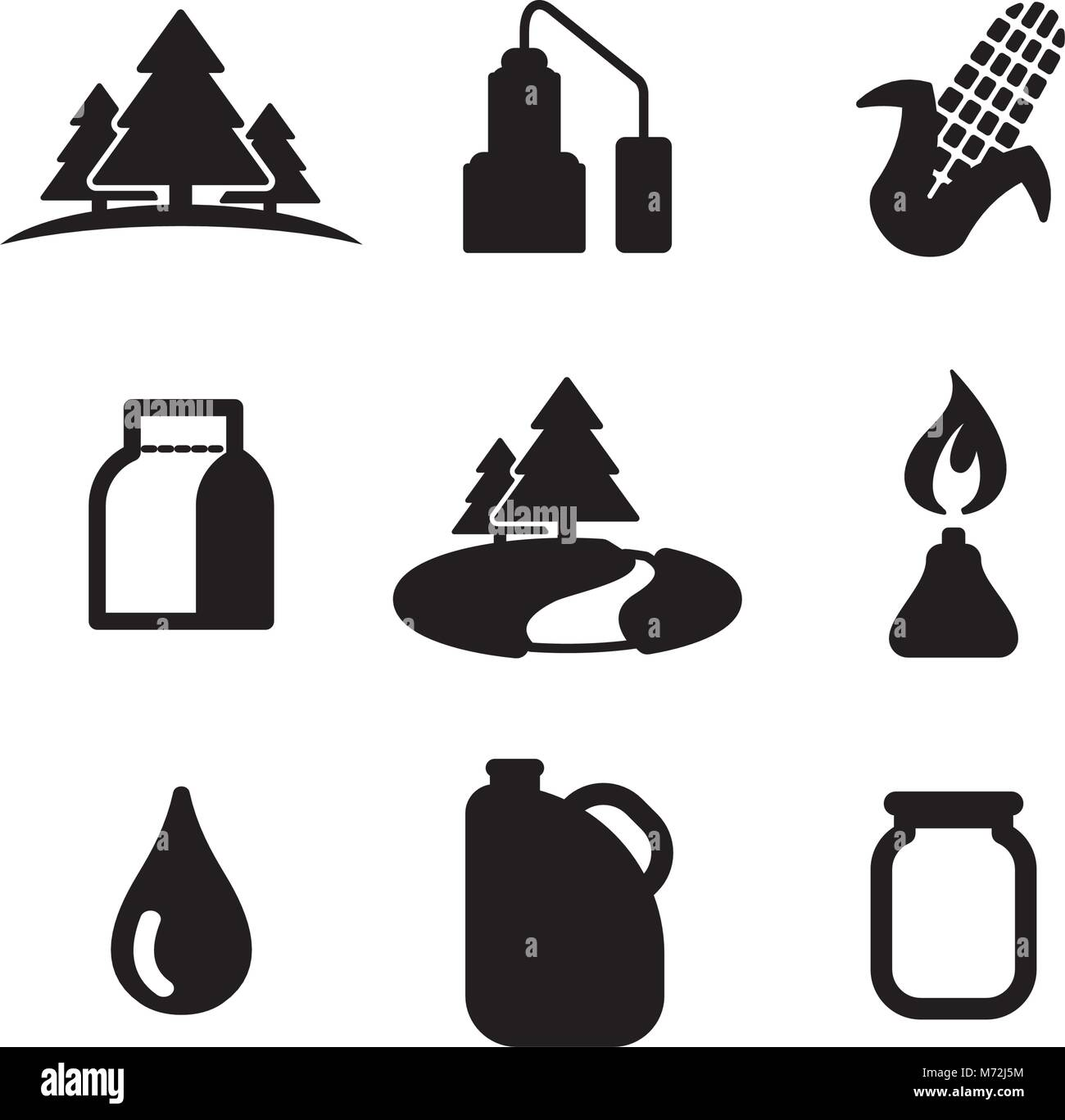 Moonshine Icons - Stock Image