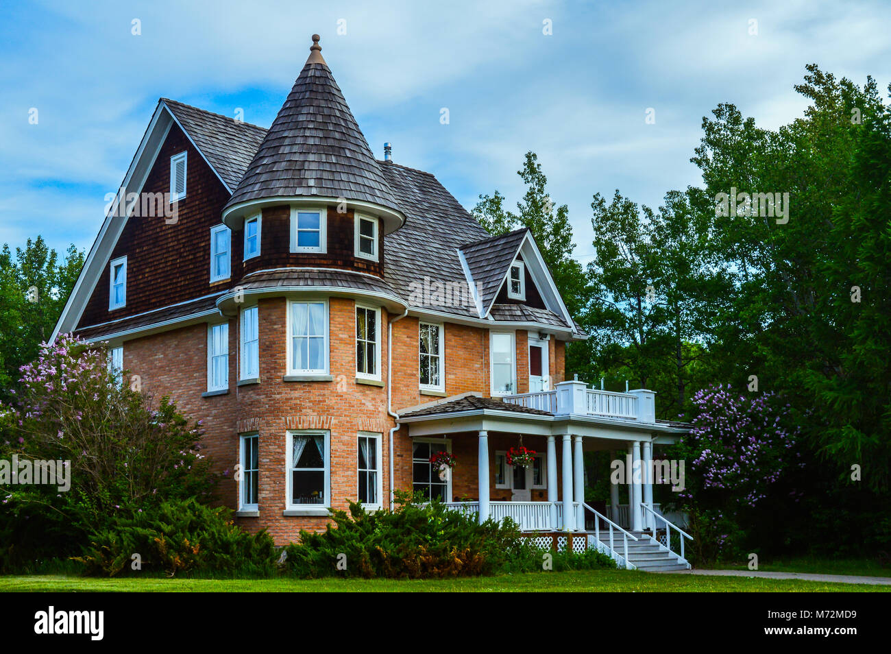 Beautiful Cronquist House In Bower Ponds Park In Red Deer, Alberta, Canada    Stock