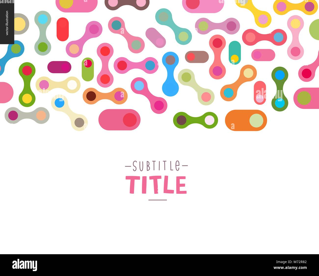 Colorful design banner - Stock Vector