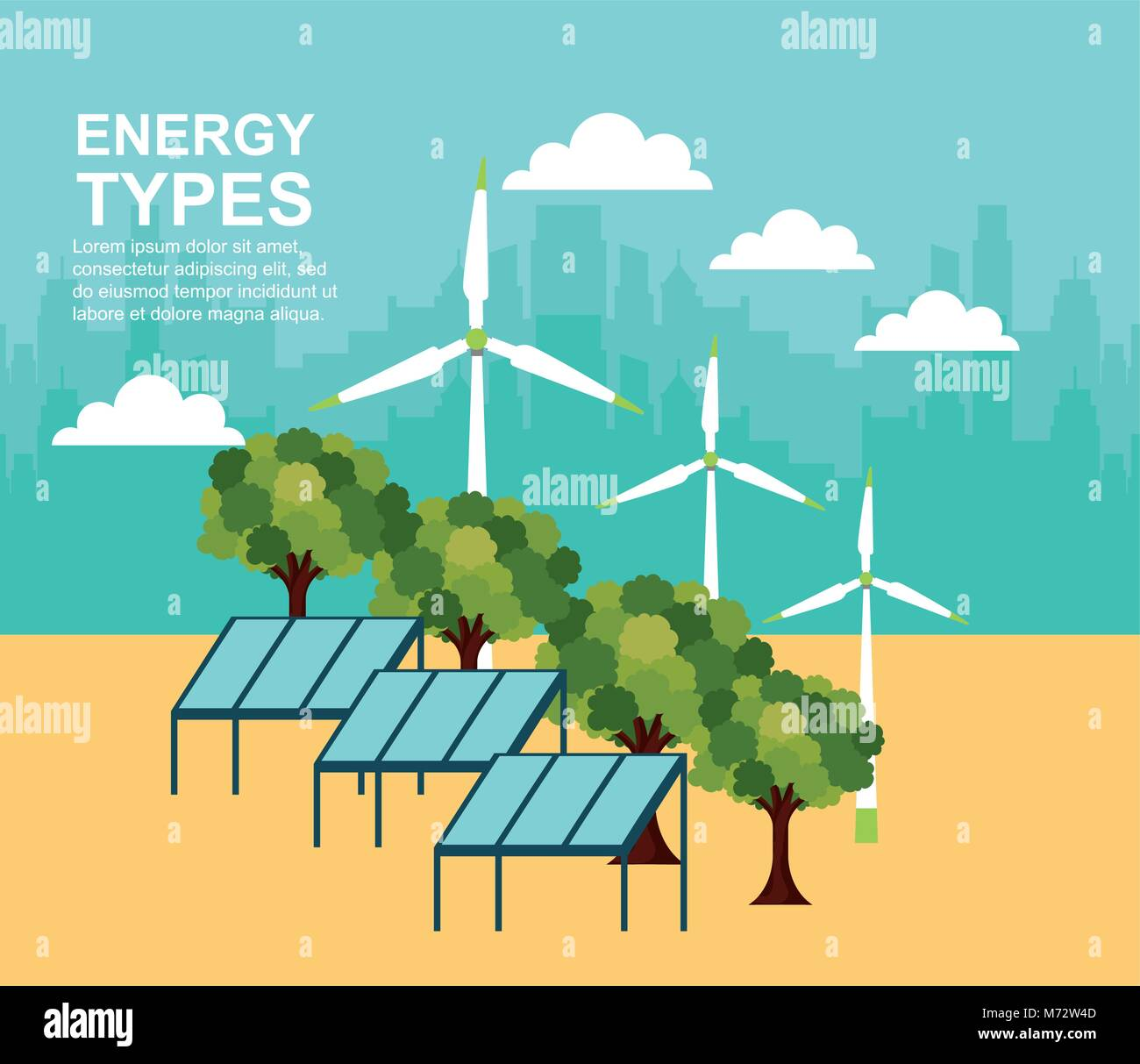 Forest Solar Wind Turbine Stock Photos & Forest Solar Wind Turbine