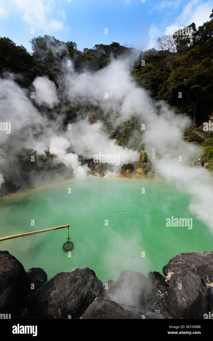 Umi Jigoku ( Ocean Hell ) hot spring in Beppu, Japan. - Stock Image