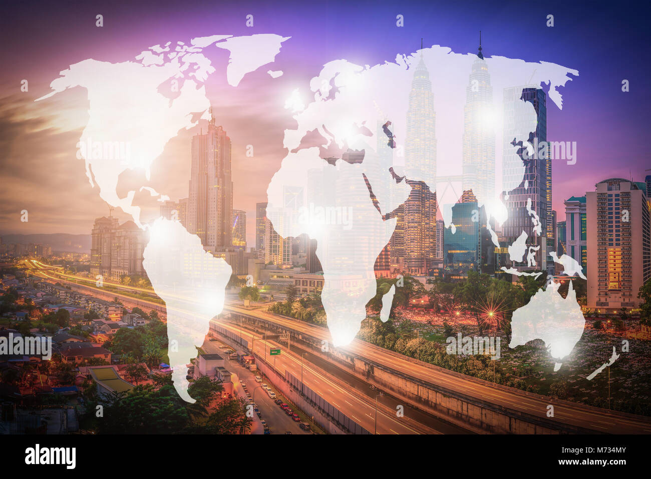 Double exposure world map and kuala lumpur city malaysia stock double exposure world map and kuala lumpur city malaysia background elements of this image furnished by nasa gumiabroncs Gallery