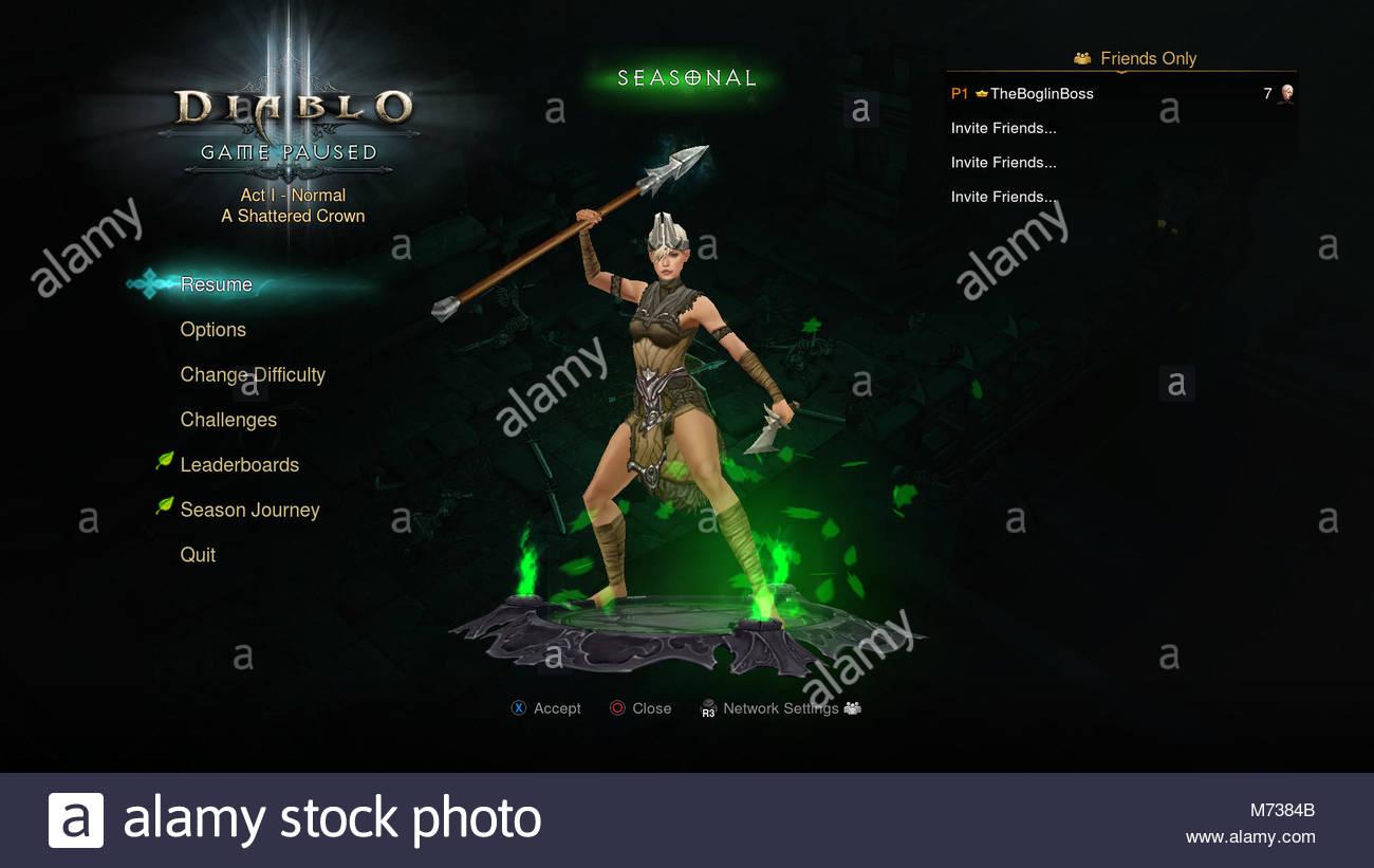 diablo 3 screenshot - Stock Image