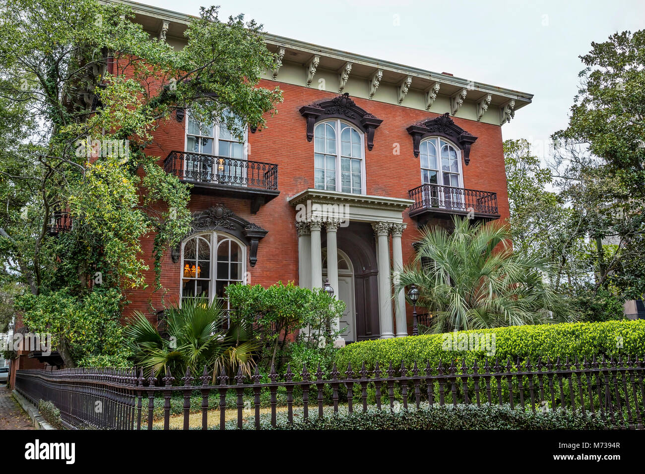 The Mercer Williams house museum in Savannah, Georgia - Stock Image