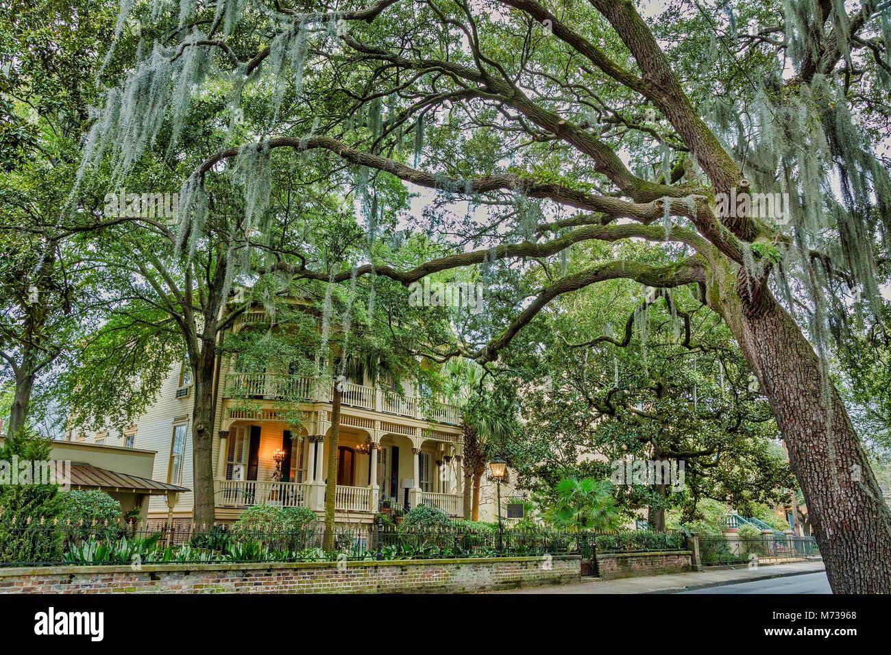 Magnolia hall building in Savannah, Georgia - Stock Image