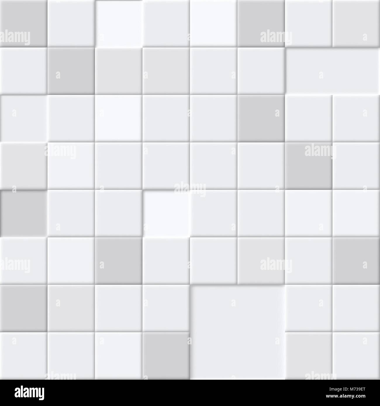 White Abstract Seamless Pattern Bathroom Or Floor Tiles For Stock