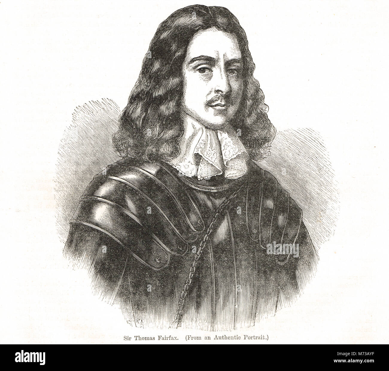 Thomas Fairfax, (1612–1671), Parliamentary commander-in-chief during the English Civil War - Stock Image