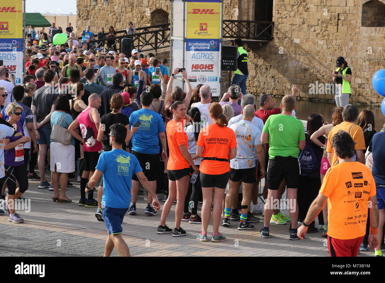 Competitors at the 20th Logicom Cyprus marathon, half marathon, 10KM, 5KM fun run - Stock Image