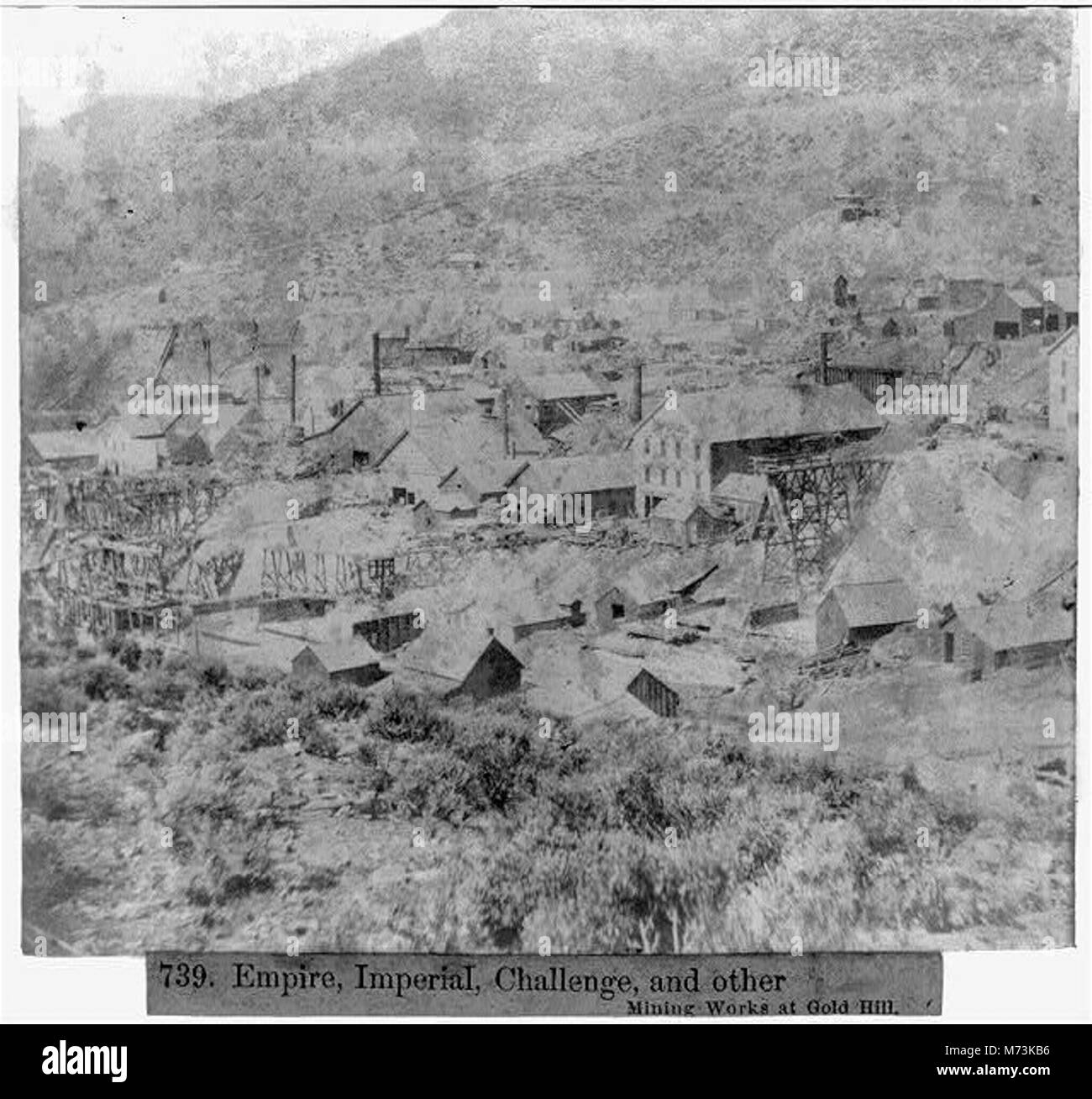 Empire, Imperial, Challenge, and other Mining Works at Gold Hill LCCN2002723114 - Stock Image