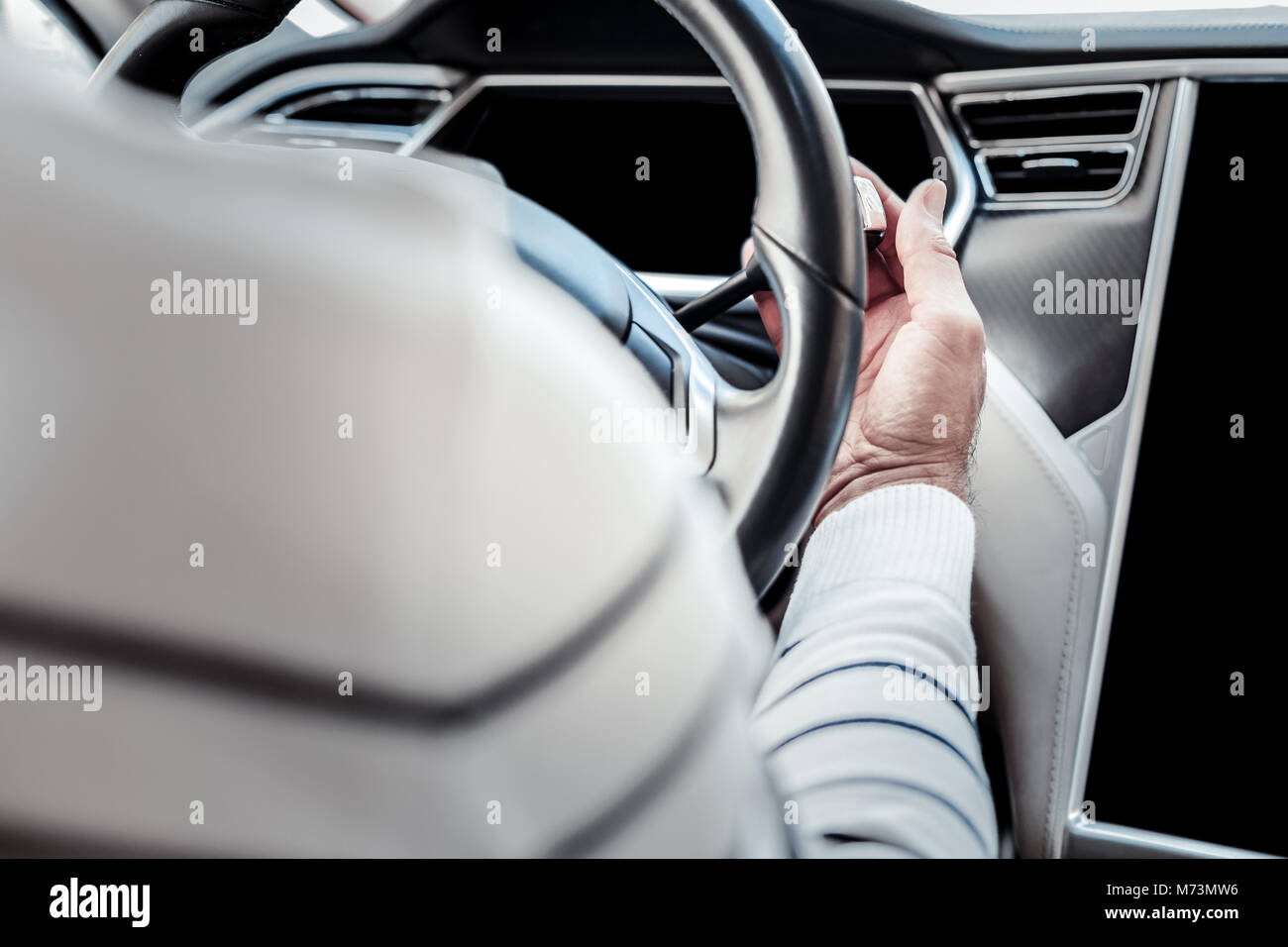 Close up of a driving wheel - Stock Image