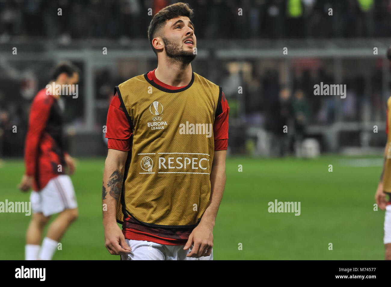 Milan, Italy. 8th March, 2018. Patrick Cutrone (AC Milan)during the match UEFA Europa League between AC Milan and Stock Photo