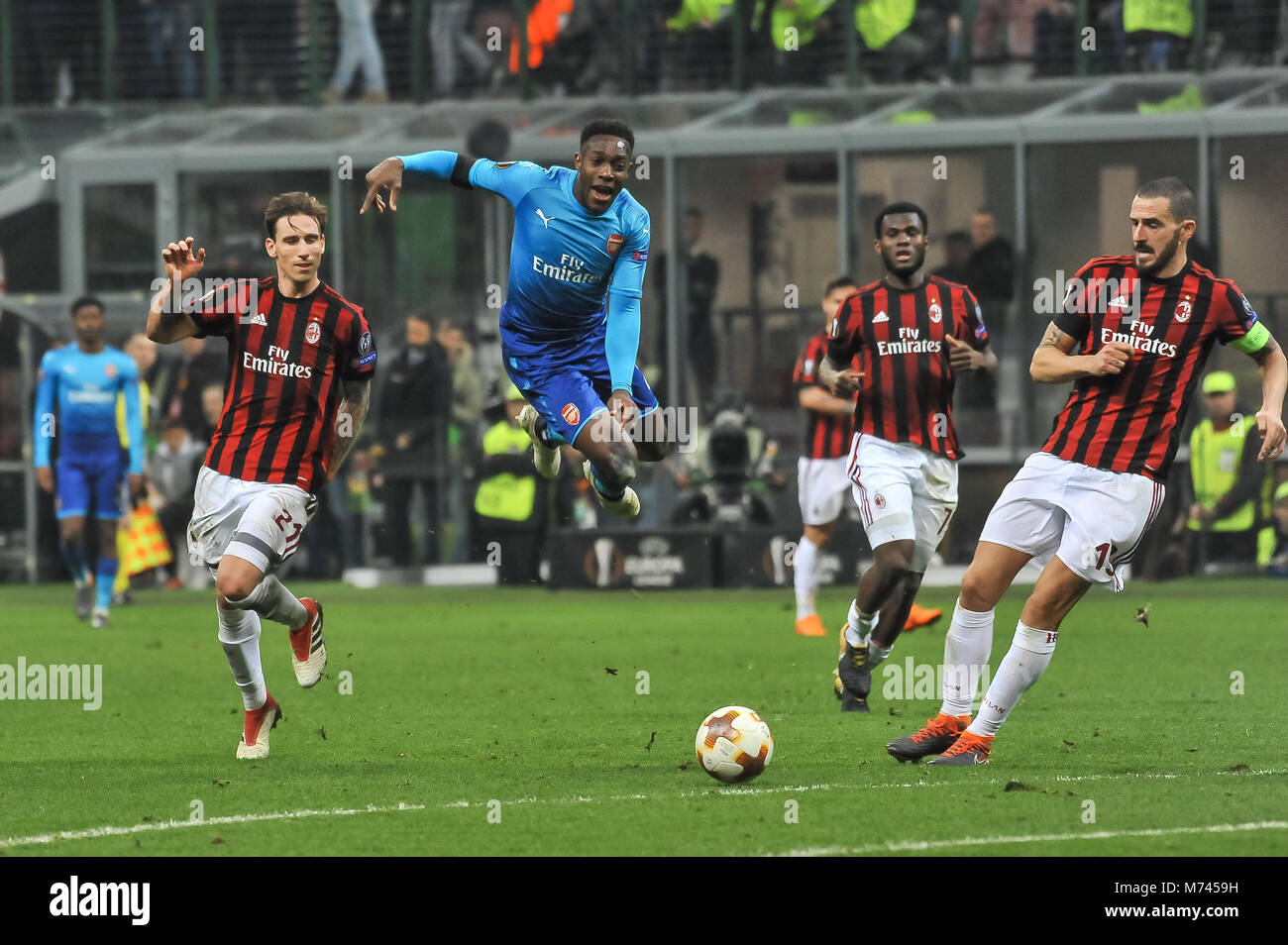 Milan, Italy. 8th March, 2018. Danny Welbeck(Arsenal FC) during the match UEFA Europa League between AC Milan and Stock Photo