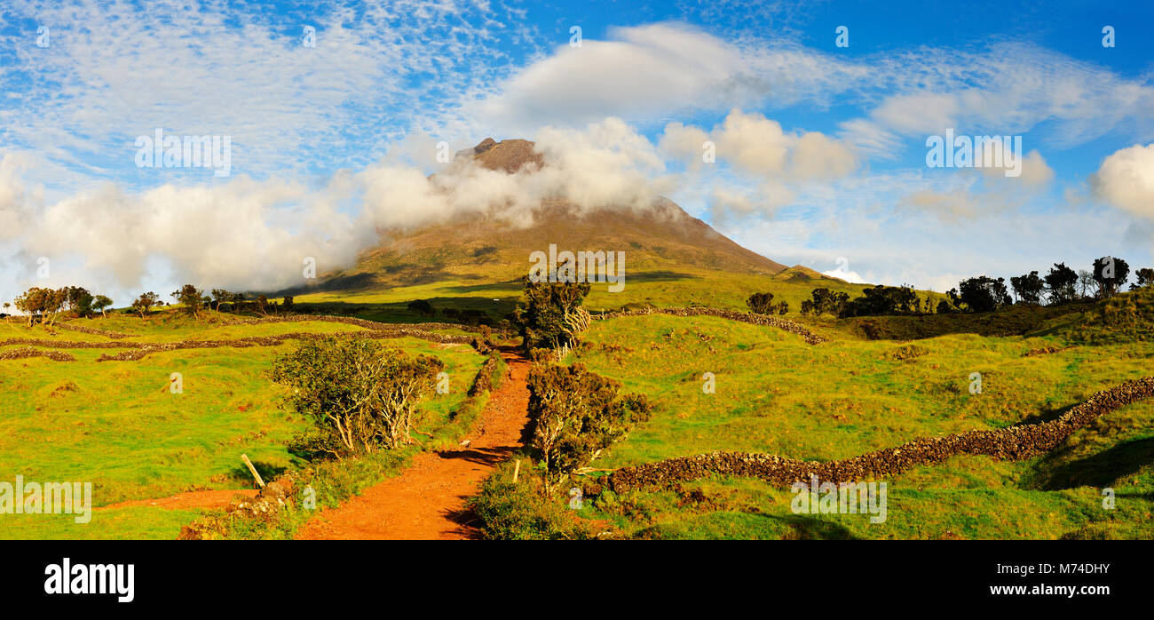 Pico volcano. Azores islands, Portugal - Stock Image