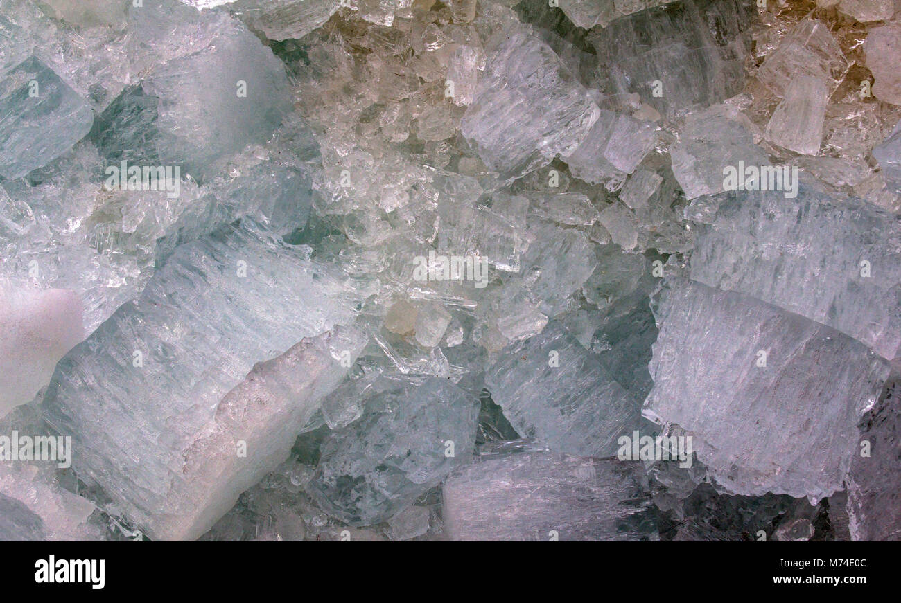 Closeup shot of ice from the Saint John River during the spring breakup. - Stock Image