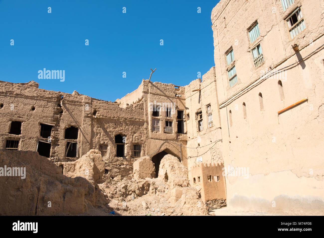 Old village of Al Hamra , Nizwa, Sultanate of Oman - Stock Image