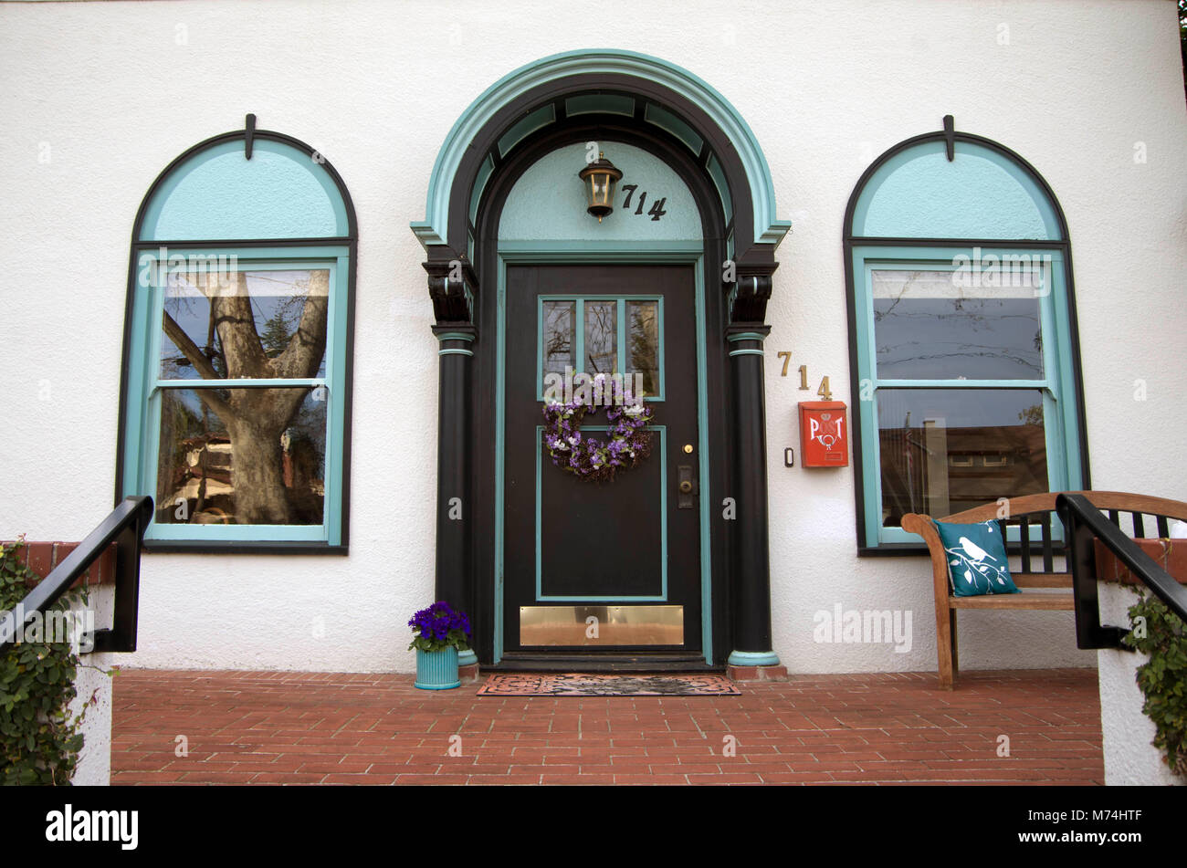 This doorway features several good ideas for decoration. - Stock Image