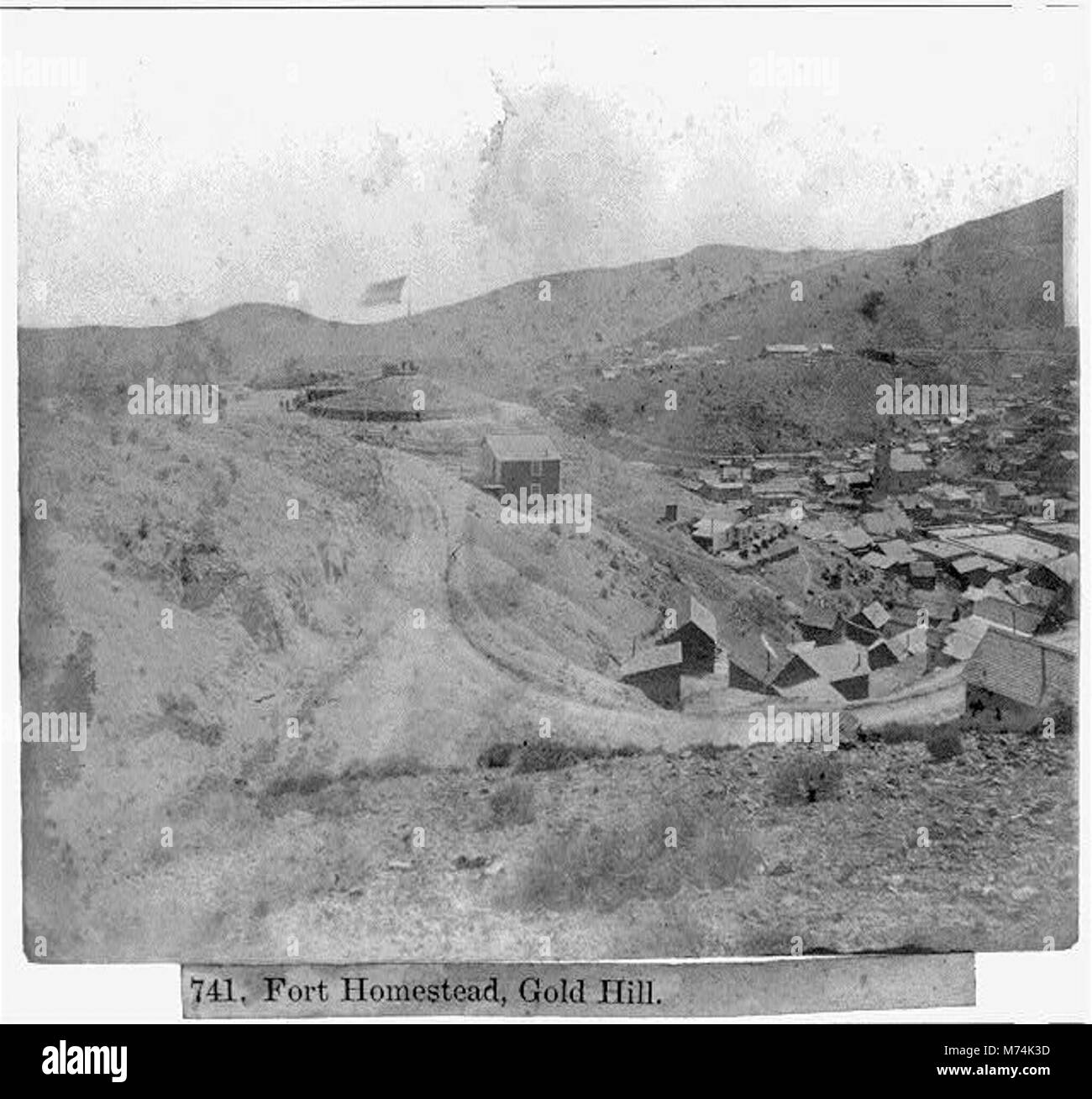 Fort Homestead, Gold Hill LCCN2002723117 - Stock Image
