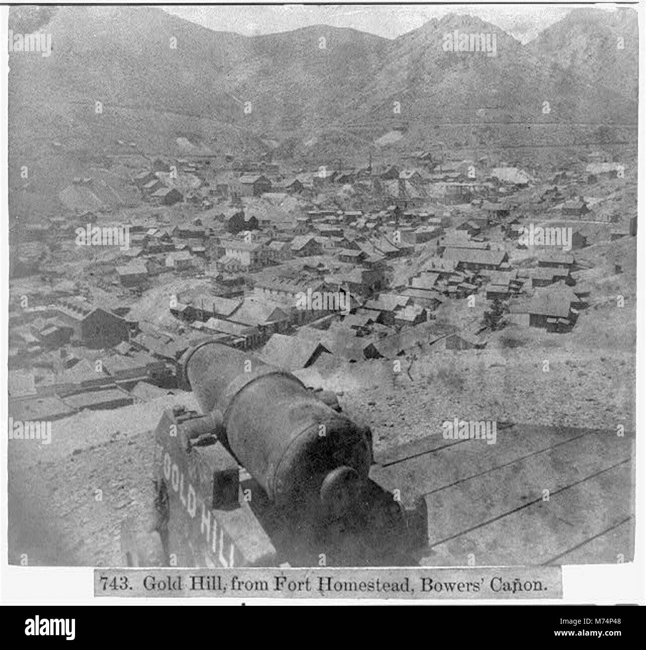 Gold Hill, Fort Homestead, Bower's Canyon LCCN2002723118 - Stock Image