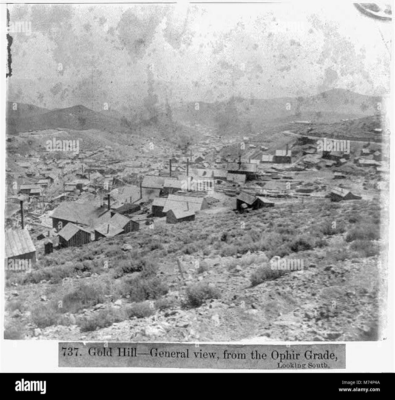 Gold Hill-General View, from the Ophir Grade, looking South LCCN2002723115 - Stock Image