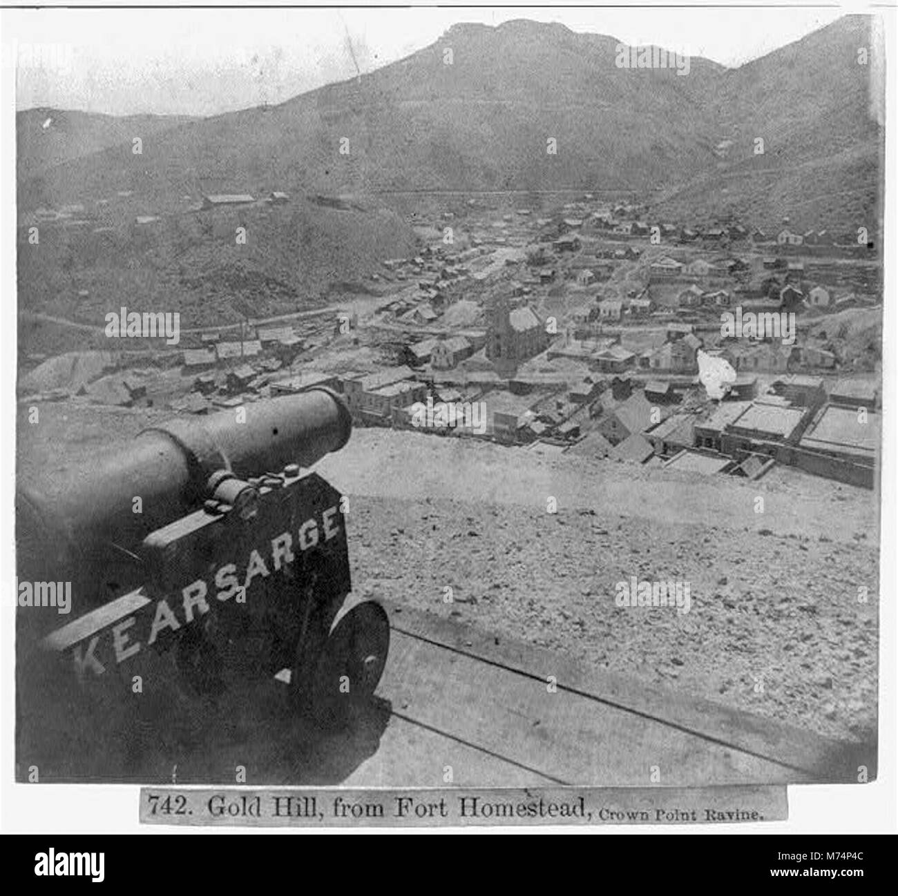 Gold Hill from Fort Homestead, Crown Point Ravine LCCN2002723119 - Stock Image