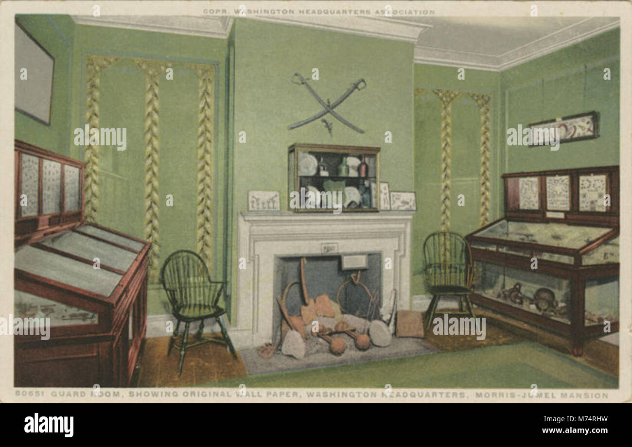 Guard Room Showing original Wall Paper Washington Headquarters