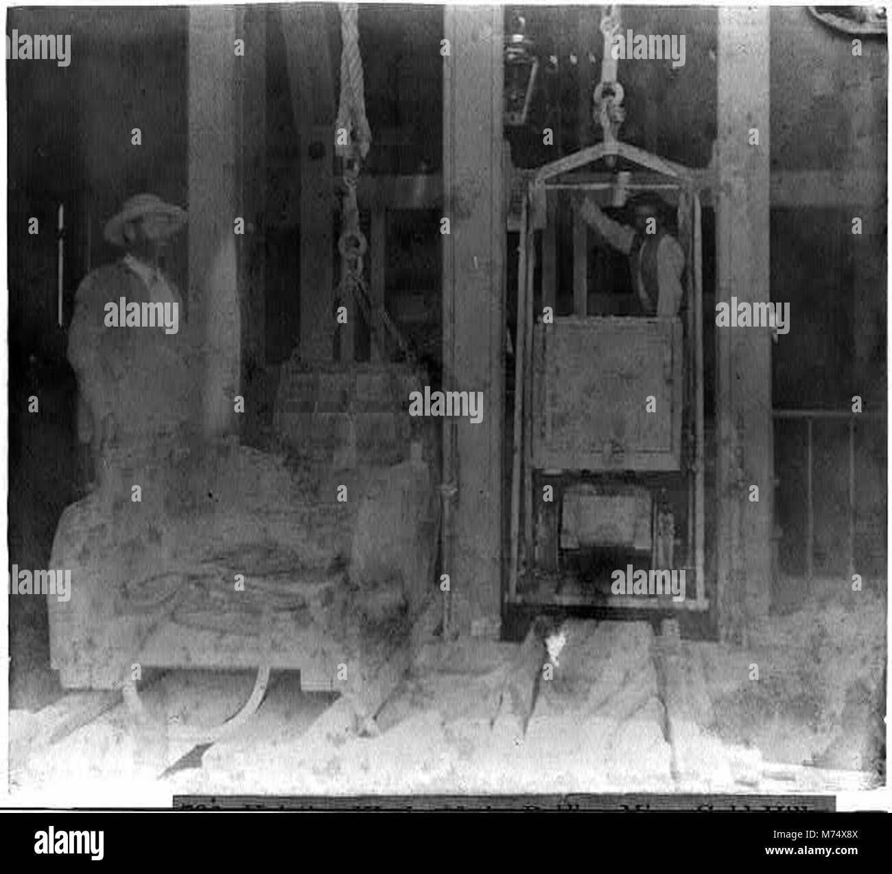 Hoisting works of the Bullion Mine, Gold Hill LCCN2002719096 - Stock Image