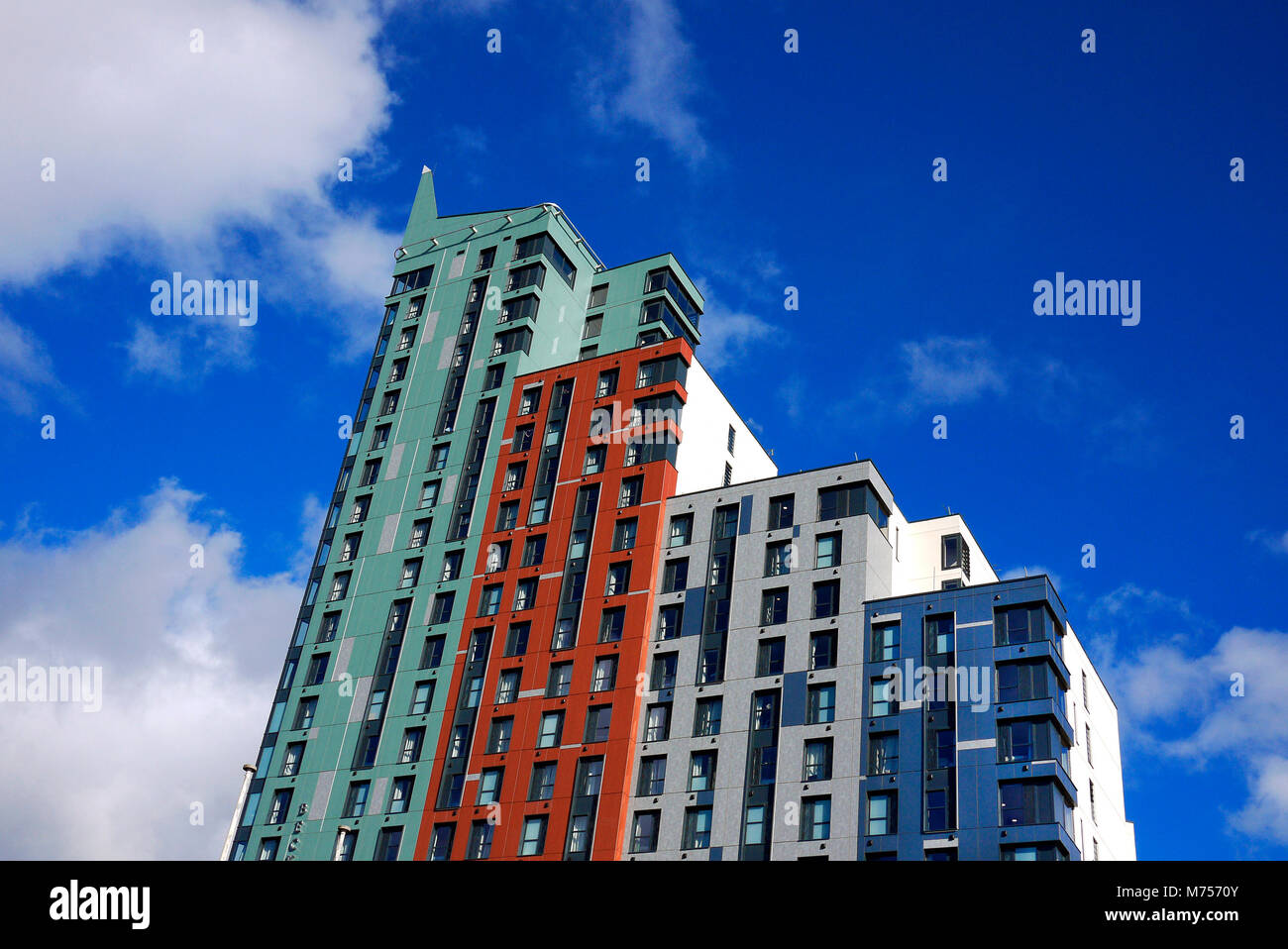 The newly-constructed Beckley Point student accomodation in Plymouth, Devon, UK. - Stock Image