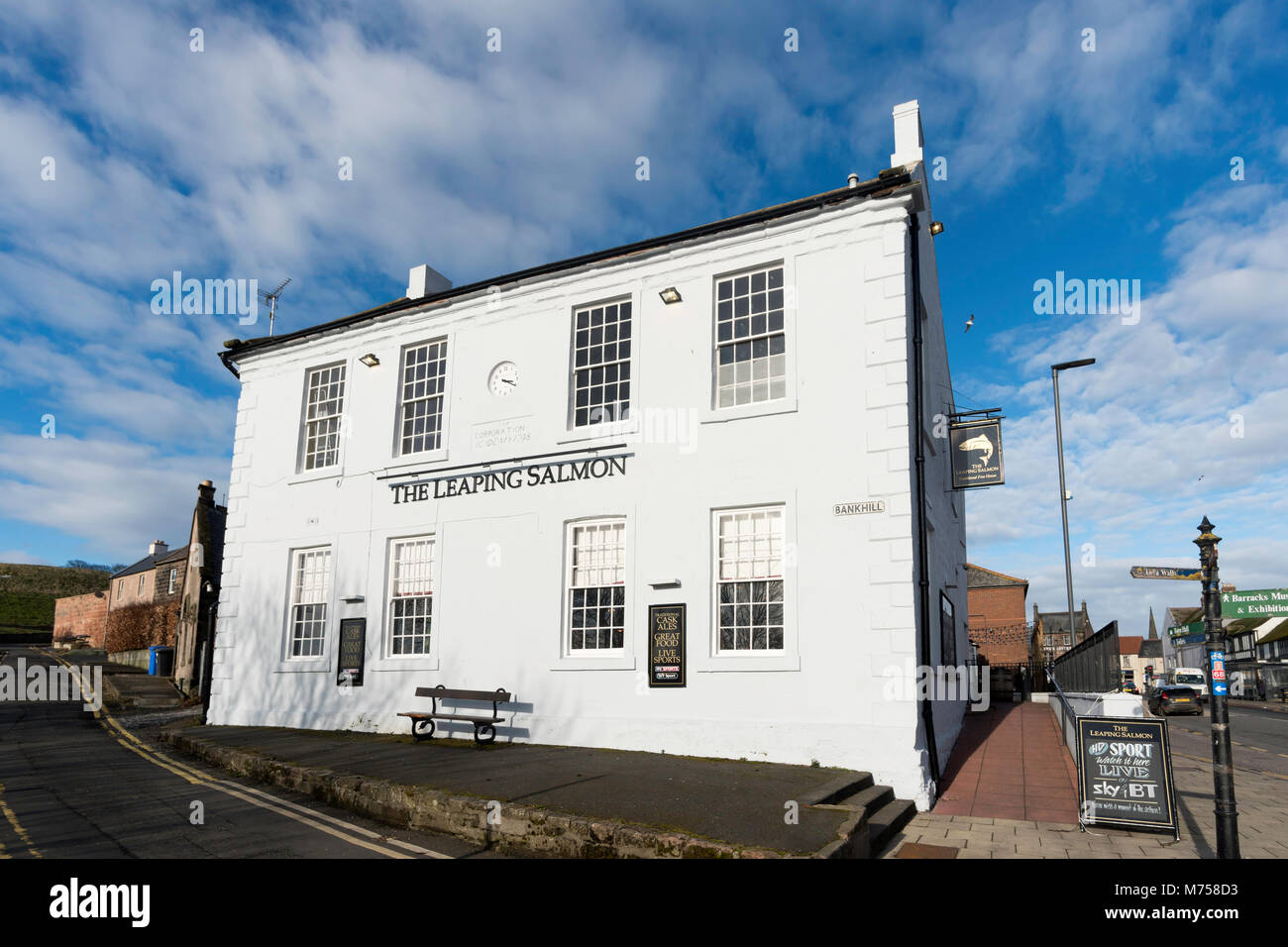The Leaping Salmon pub, Berwick upon Tweed, Northumberland, England, UK Stock Photo