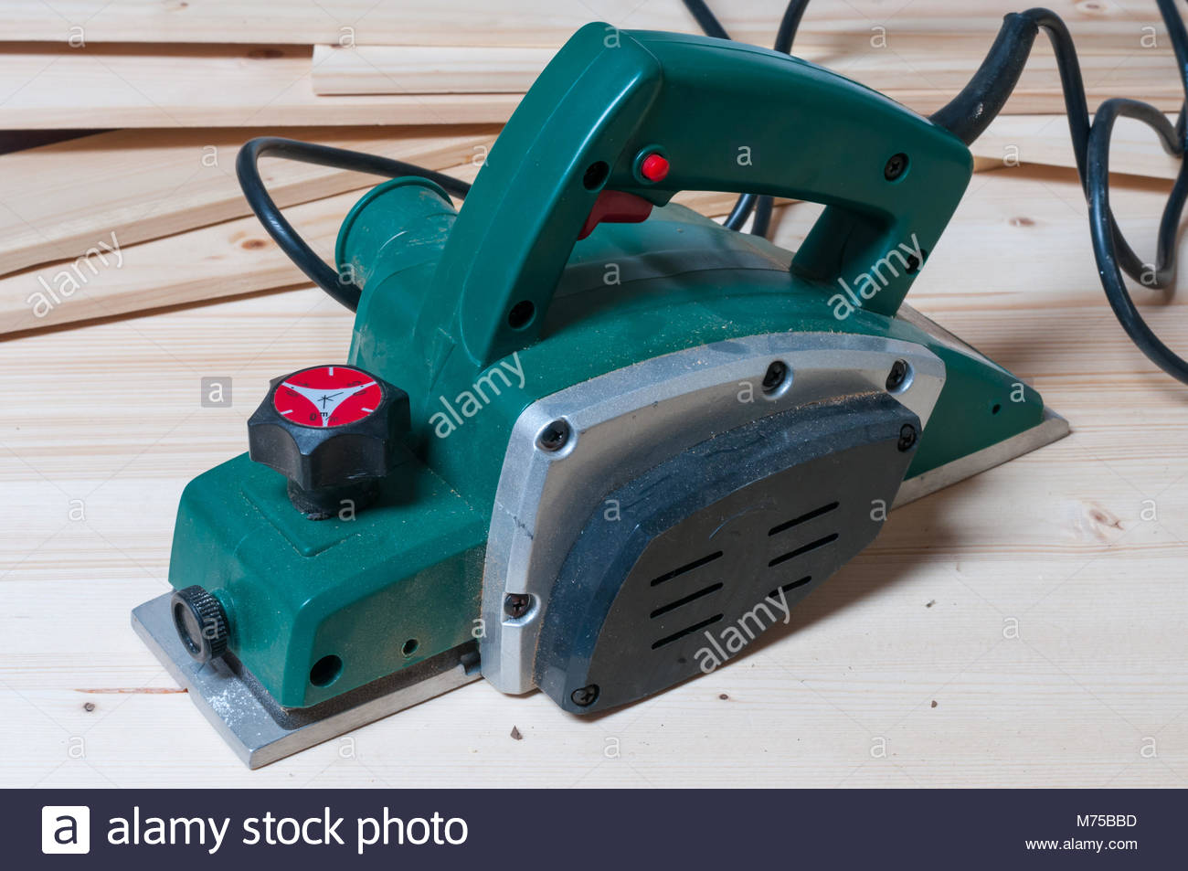 Electric Planer Stock Photos Images Alamy What Does An Do Tool On A Woodworking Workbench Horizontal Composition Image