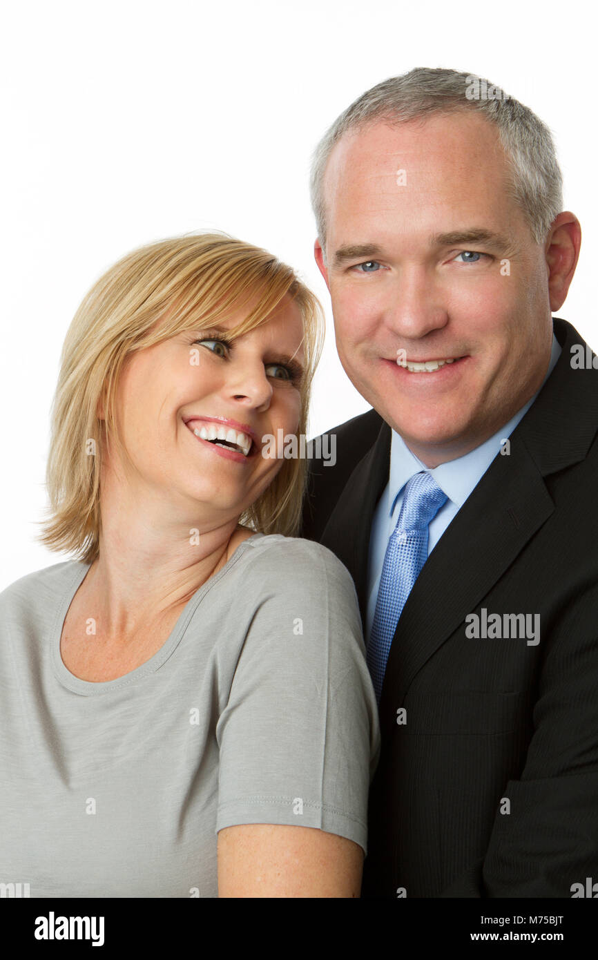 Well dressed mature couple. - Stock Image