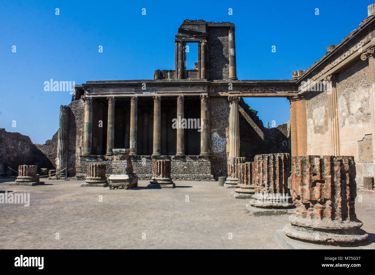 Stabian baths in Pompeii, Italy - Stock Image