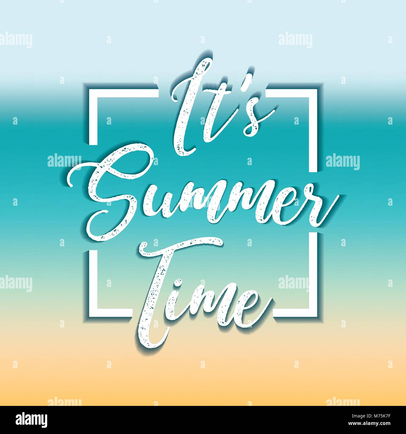Summer time design over colorful background, vector illustration - Stock Vector