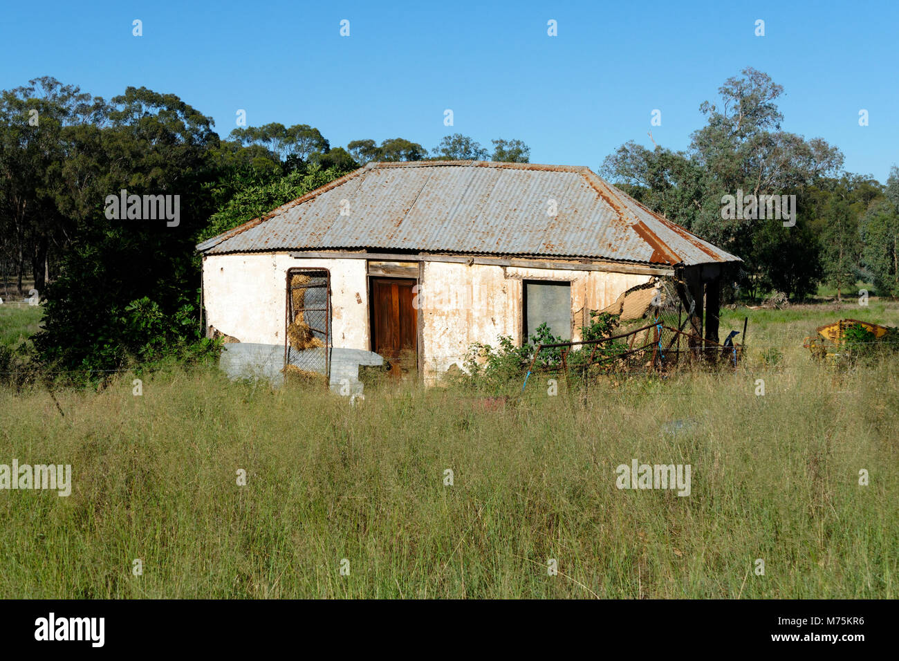 Abandoned country home from 19th century, New South Wales, Australia. - Stock Image