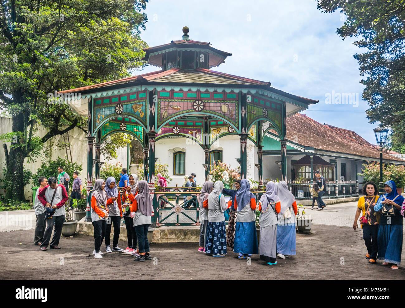 rotunda pavilion at the Kraton Ngayogyakarta Hadiningrat, the palace of the Yogyakarta Sultanate, Central Java, - Stock Image