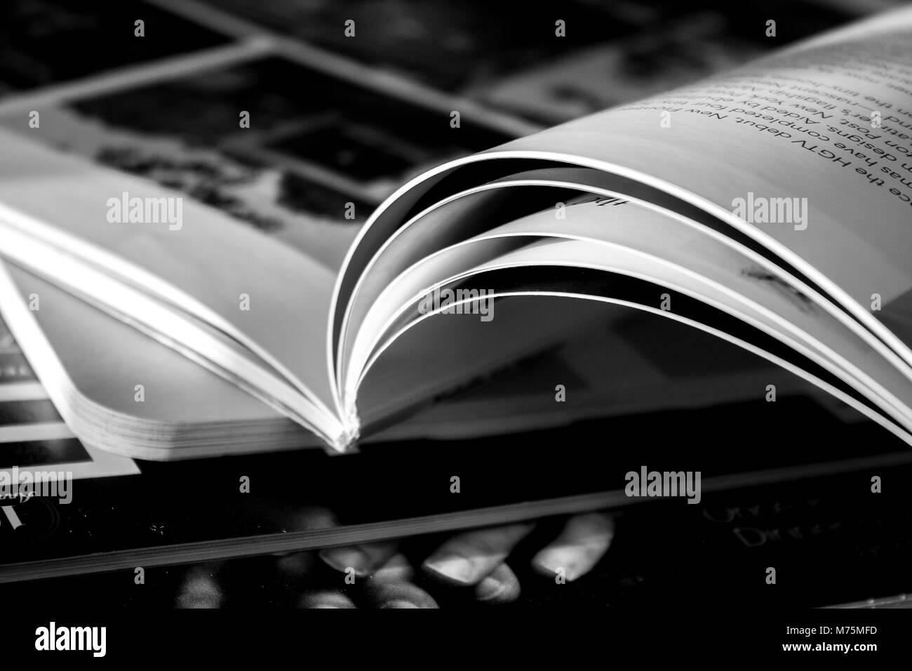 Light Reading - Stock Image
