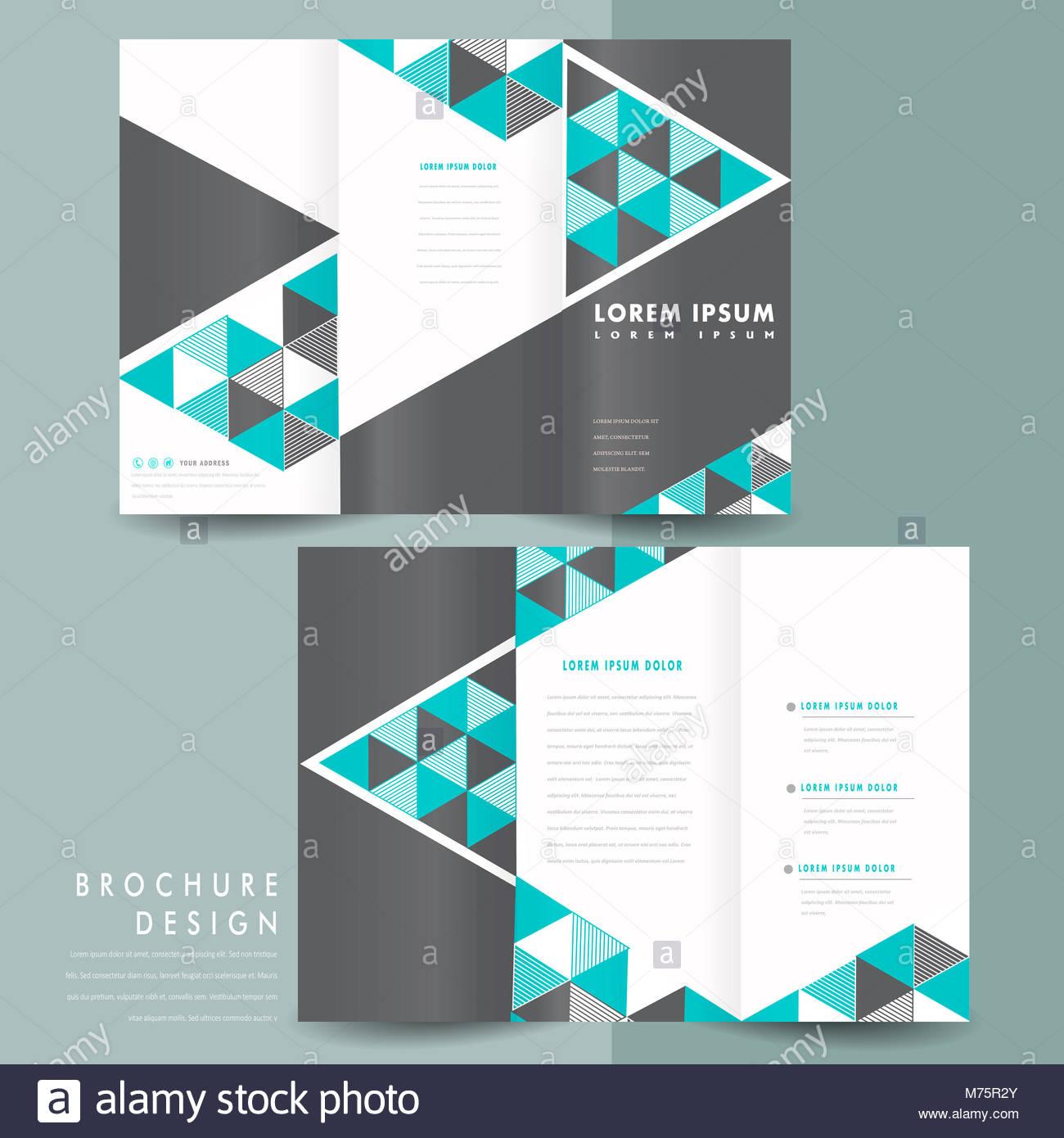 folding pamphlet template