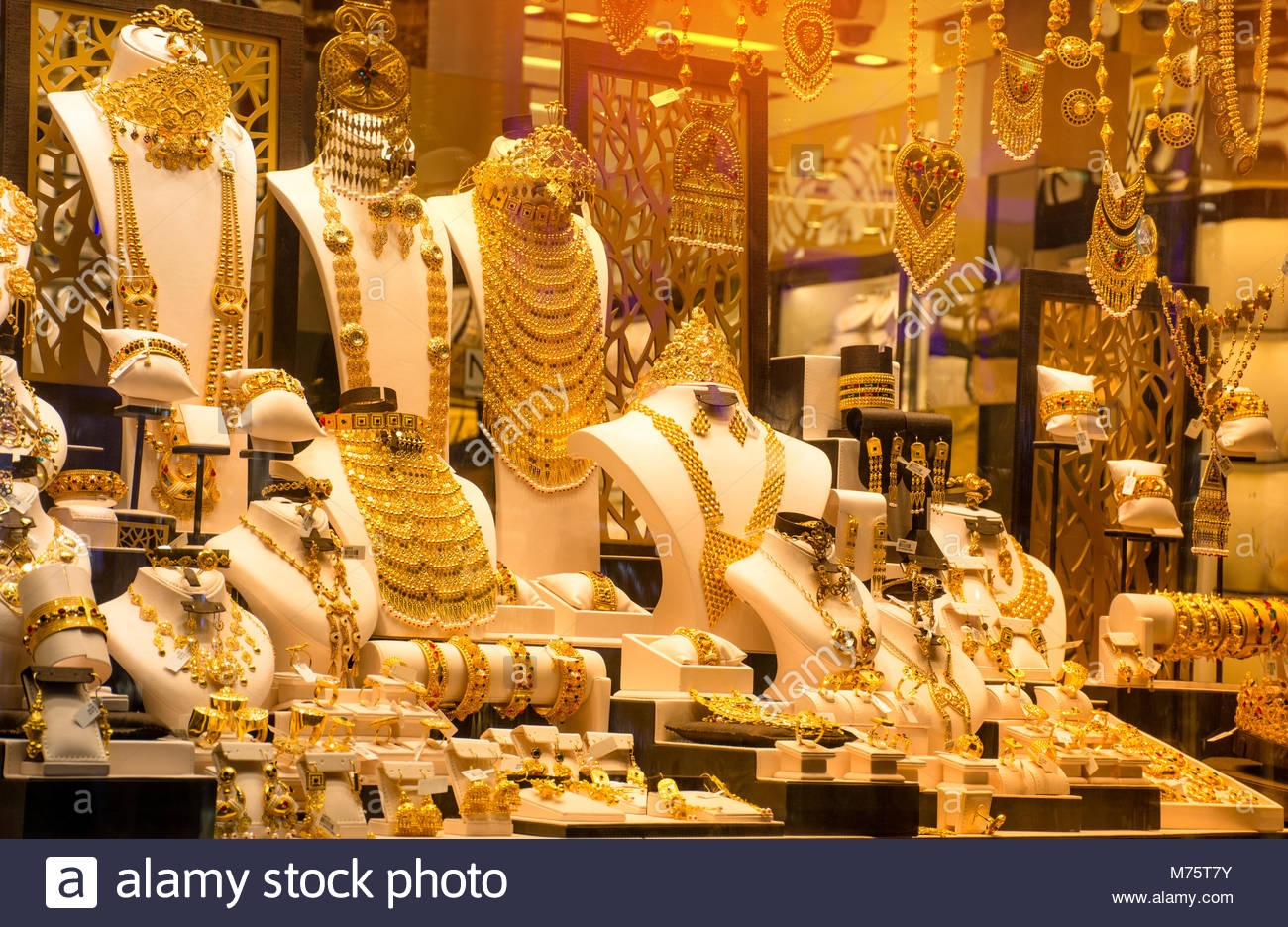 A Shot From gold Souk Dubai , Famous Gold Market - Stock Image