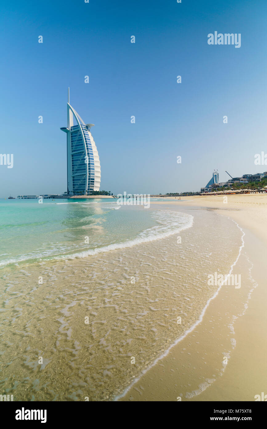 Burj Al Arab, Jumeirah Beach, Dubai, United Arab Emirates Stock Photo