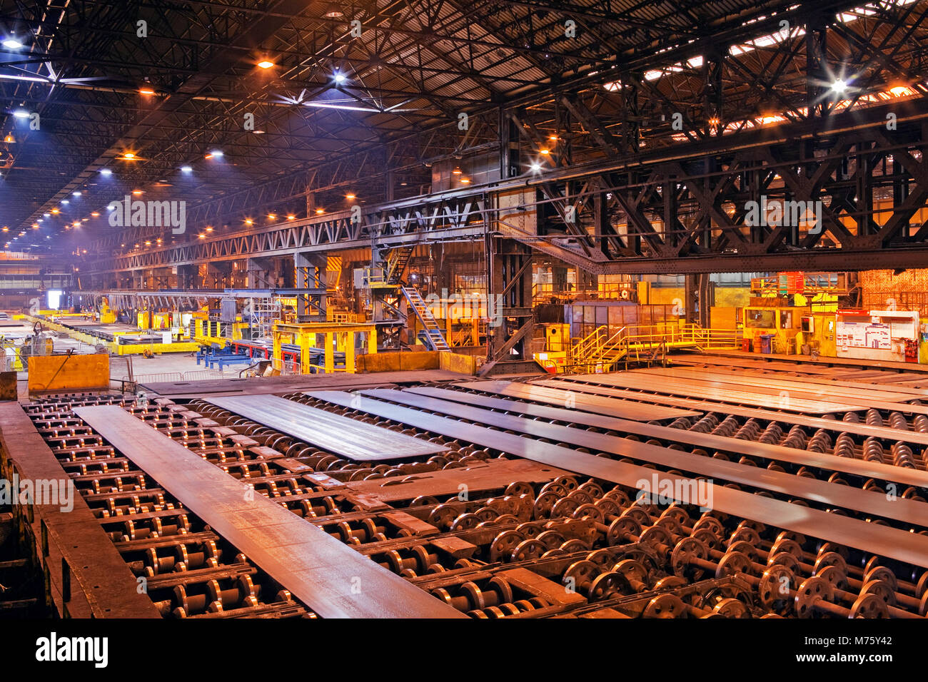 The interior of a building used in the steel industry in the UK - Stock Image
