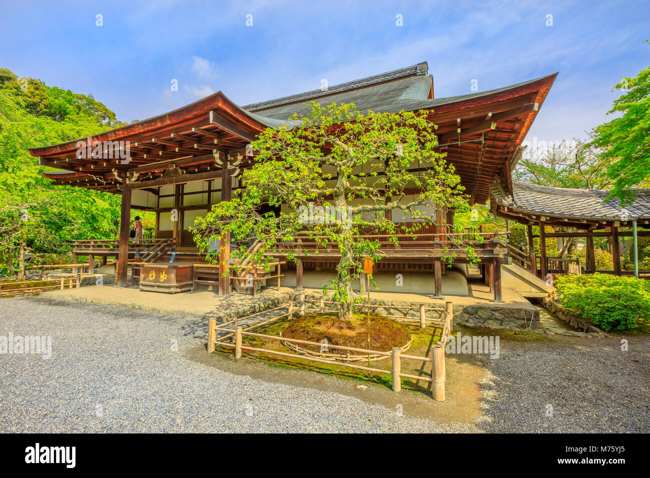 Kyoto, Japan - April 27, 2017: Taho-den hall or Hall of Many Treasures in Tenryu-ji, the most important Temple Zen, - Stock Image