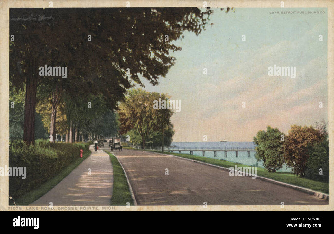 Lake Road, Grosse Pointe, Mich. (NBY 9398) - Stock Image