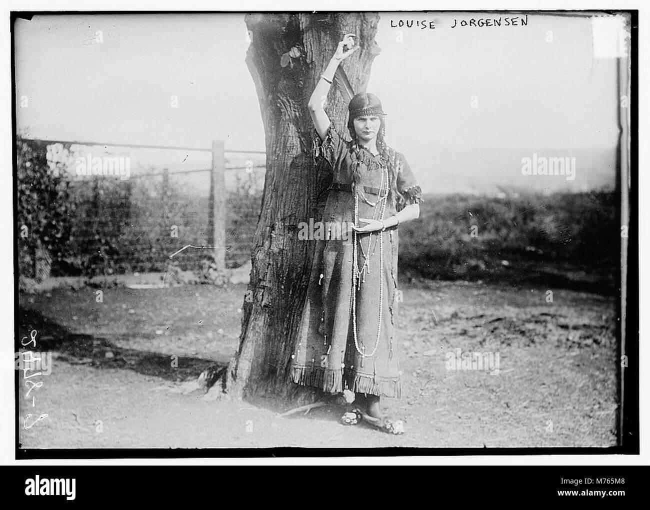 Louise Jorgensen in Indian dress LCCN2014691243 - Stock Image
