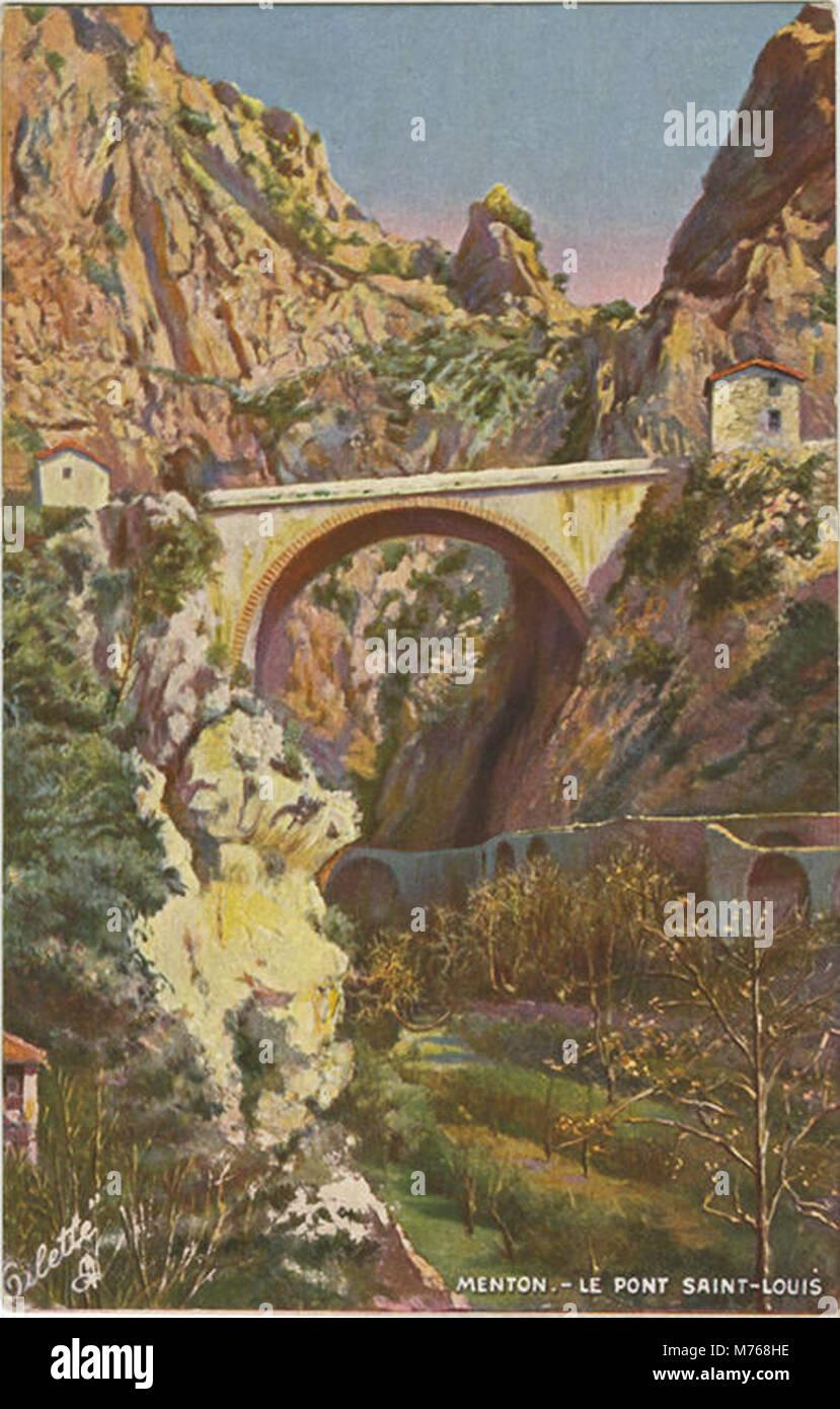 Menton.-Le Pont Saint-Louis. 765 (NBY 419563) - Stock Image