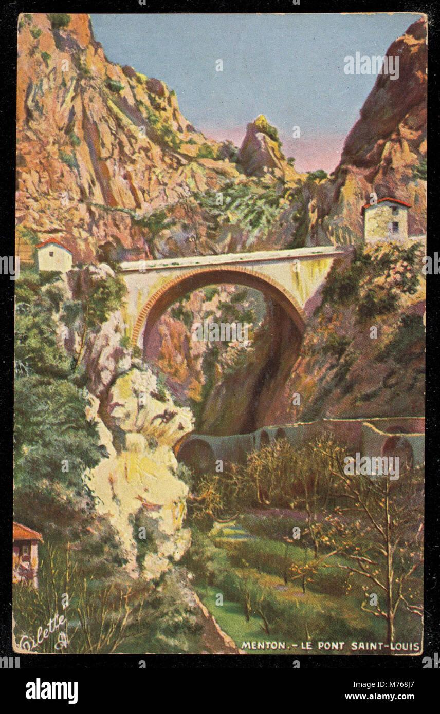 Menton. Le Pont Saint Louis (NBY 442638) - Stock Image