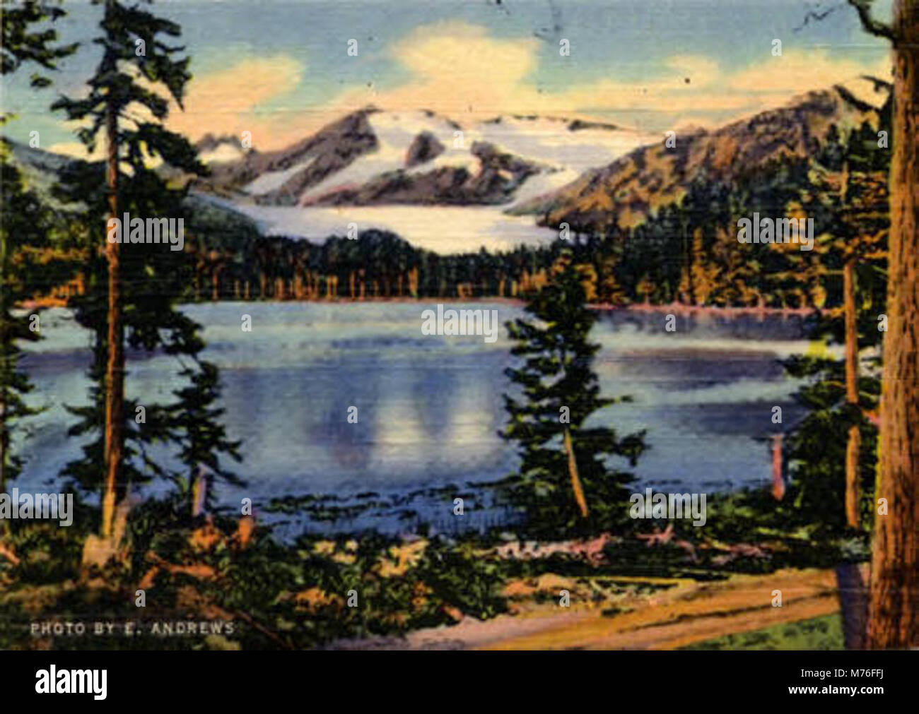 Auk Lake and Mendenhall Glacier near Juneau (NBY 430843) - Stock Image