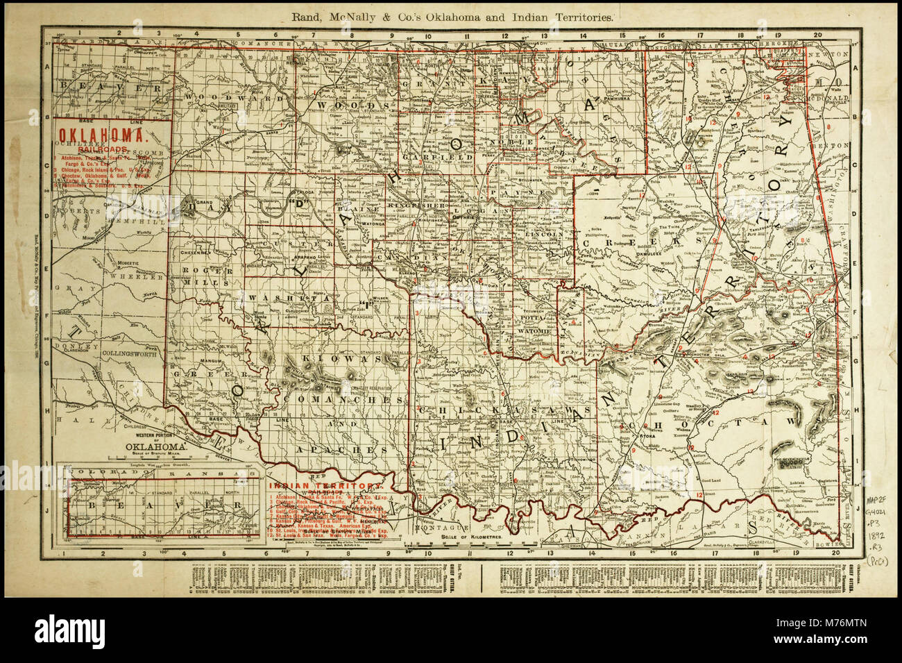 S In Oklahoma Map on