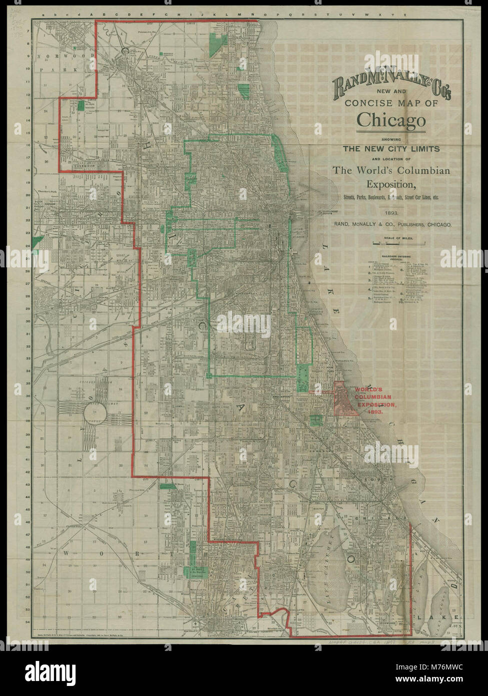 Rand McNally & Co's New and concise map of Chicago , showing the new on