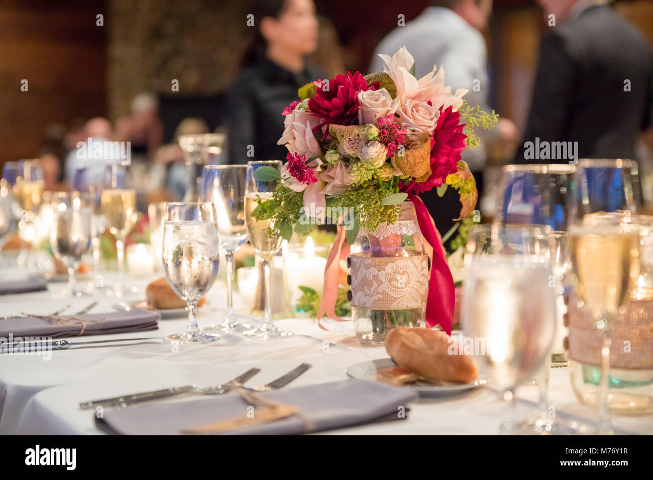 Autumn Wedding Centerpieces Stock Photos Autumn Wedding